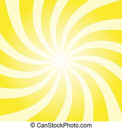 csavar, nap, sárga, kitörés