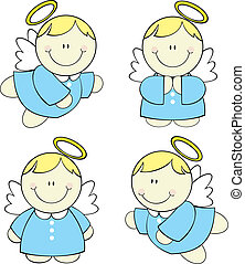 csecsemő, állhatatos, angyalok