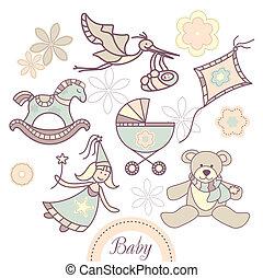 csecsemő, állhatatos, termékek