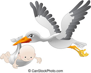 csecsemő, átadó, gólya, újszülött