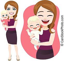 csecsemő, birtok, anya