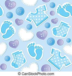 csecsemő blue, seamless, motívum
