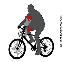 csecsemő, chai, bicikli, kerékpáros