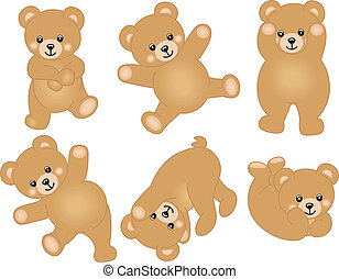 csecsemő, csinos, hord, teddy-mackó
