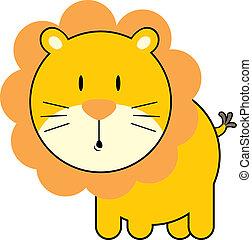 csecsemő, csinos, oroszlán