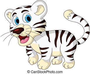 csecsemő, csinos, white tigris, gyalogló
