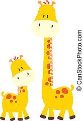 csecsemő, csinos, zsiráf