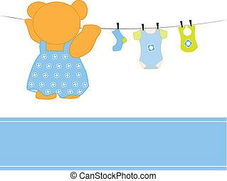csecsemő fiú, öltözék