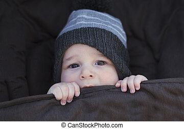 csecsemő, folytatódik élénk, tél