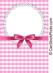 csecsemő, háttér, rózsaszínű, szalvéta