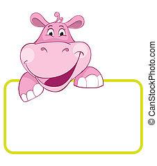 csecsemő, hippo., transzparens, állat