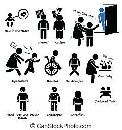 csecsemő, kölyök, egészség, gyerekek, betegség