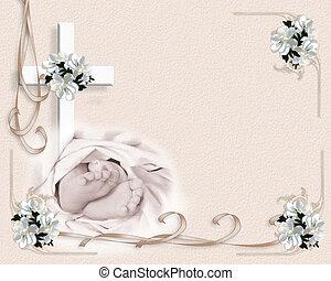 csecsemő, keresztelő, meghívás