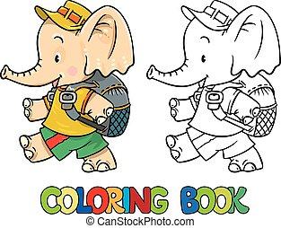 csecsemő, kevés, elpirul beír, elefánt