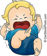 csecsemő, kitörés