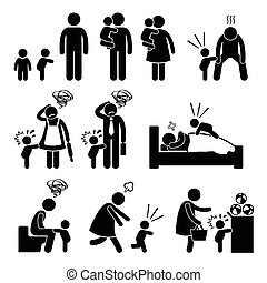 csecsemő, kitörés, totyogó kisgyerek, rosszkedv