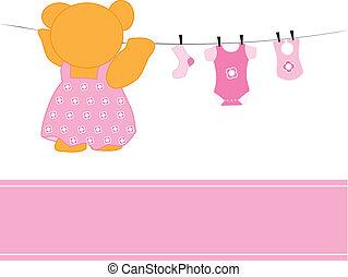 csecsemő lány, öltözék