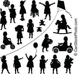 csecsemő lány, totyogó kisgyerek, gyerekek, gyermek