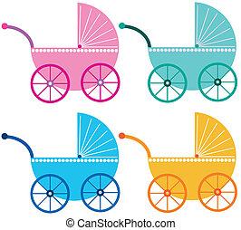 csecsemő, poloskás, színezett