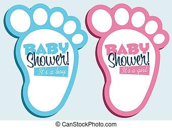 csecsemő shower, felhívások