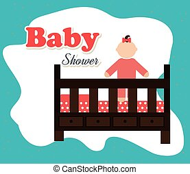 csecsemő shower, gyermekkor, boldog