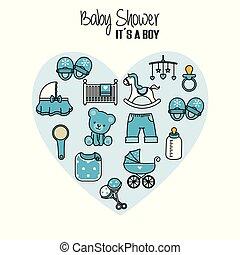 csecsemő shower, kártya