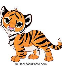 csecsemő, tiger, gyalogló