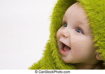 csecsemő, zöld