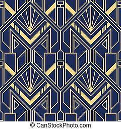 csempeborítás, deco, művészet, modern, pattern., vektor, geometriai