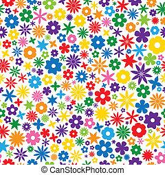 cserép, virág, színes