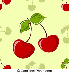 cseresznye, seamless, háttér