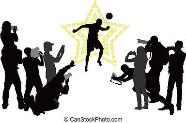 csillag, fogalom, futball