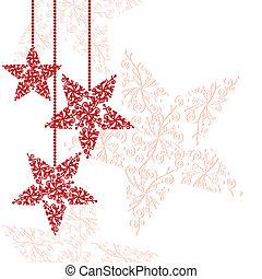 csillag, karácsonyi díszek, piros