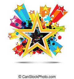 csillag, kivonat tervezés, háttér, ünneplés