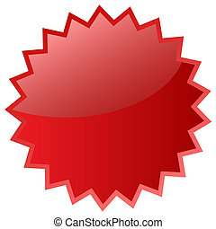 csillag, piros, ikon