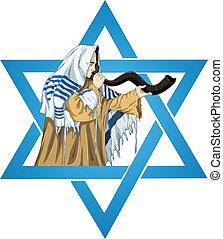 csillag, rabbi, dávid, sófar, talit, elfúj