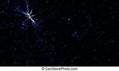 csillogás, meteor, csillaggal díszít, éjszaka