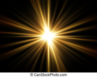 csillogó rays, arany-