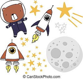 csinos, űrhajós, böllér, hord