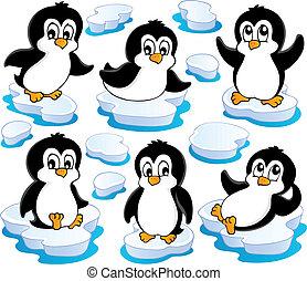 csinos, 2, pingvin, gyűjtés