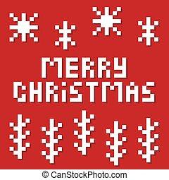 csinos, card., vagy, fél, vidám, művészet, branches., csípőre szabott, poszter, köszönés, fénykép, hópihe, karácsony, illustration., vektor