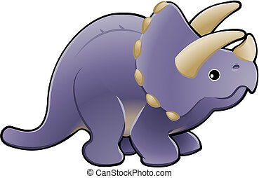 csinos, dinoszaurusz, triceratops, ábra