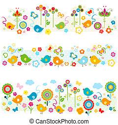 csinos, határok, alapismeretek, színes, természet