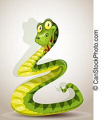 csinos, kígyó