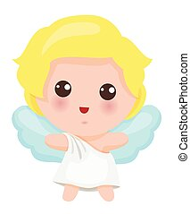 csinos, kevés, ábra, angyal