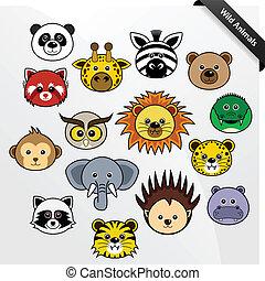 csinos, kicsapongó élet, karikatúra, állat