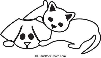 csinos, kutya, macska