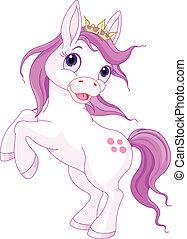 csinos, ló, feláll, nevelés, hercegnő