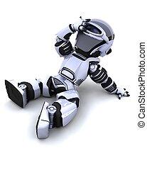 csinos, nap, robot, cyborg, maradék