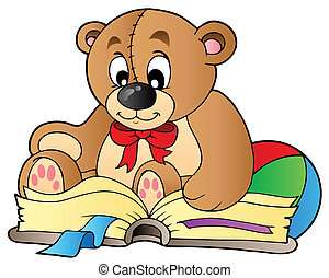 csinos, olvasókönyv, hord, teddy-mackó